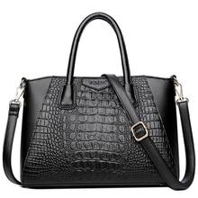 Crocodile Genuine Leather Women Handbag Fashion Female Shoulder Bag Ladies Totes Messenger Bags For Womens 2019 New Bolsas Sac