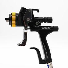 Novo preto rp/1.3 bico 5000b pistola pistola de pulverização de proteção ambiental tanque pistola de pintura do carro reparação pulverizador pistola