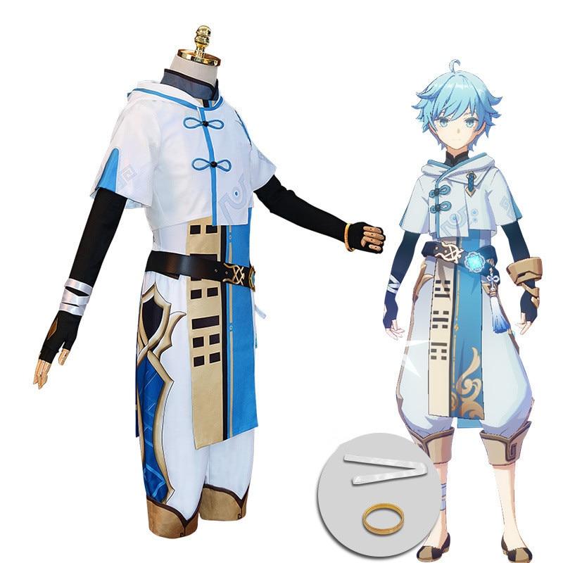 Jogo genshin impacto chongyun cosplay trajes conjunto
