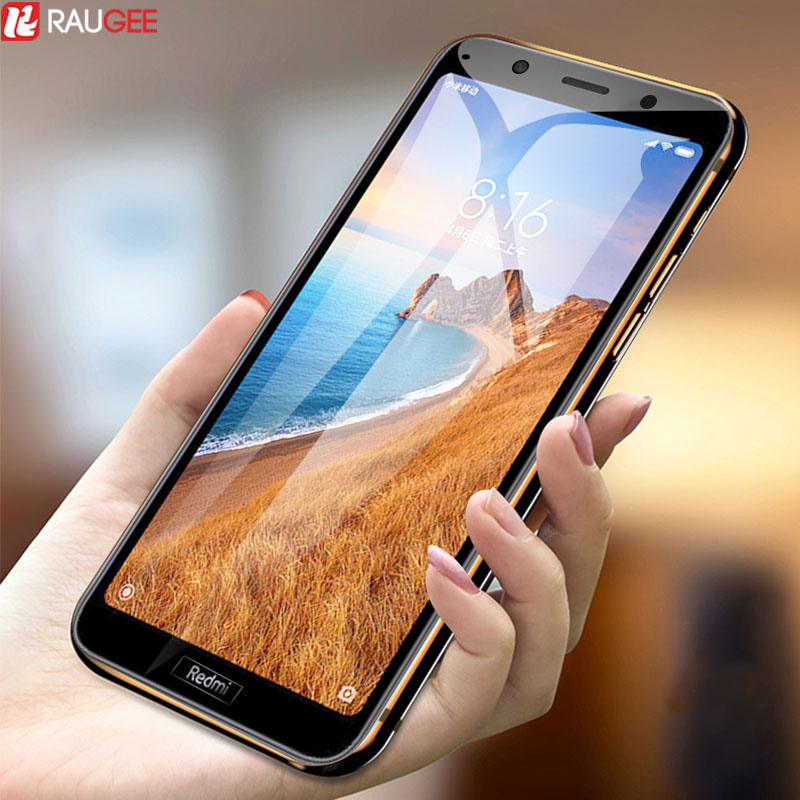 2 Pcs Safety Glass For Xiaomi Redmi 7A Tempered Glass Full Cover Screen Protection For Redmi 7A 7 A Screen Protector Glass Film