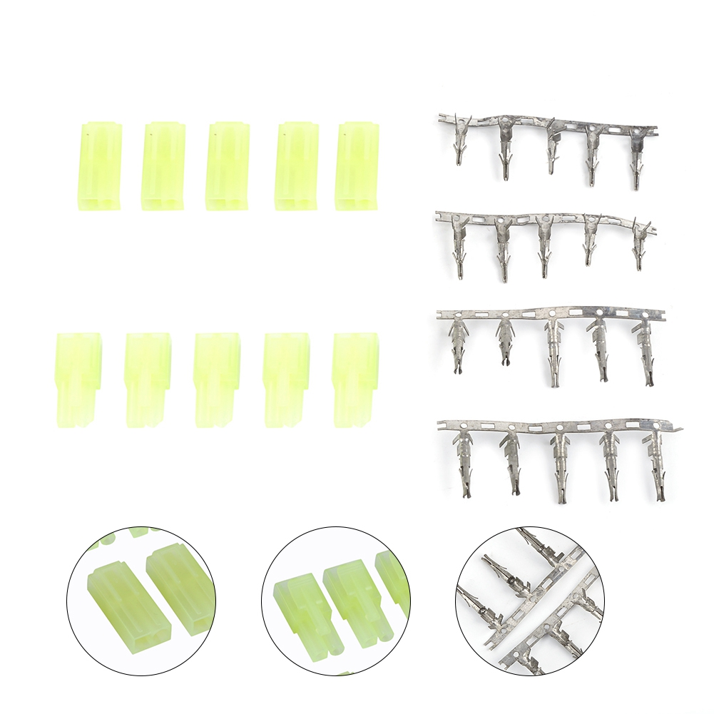 5pairs Male Female Mini Tamiya Plug Connector Green Mini Tamiya Unwired Connectors With Pins For Airsoft RC Aircraft Accessories
