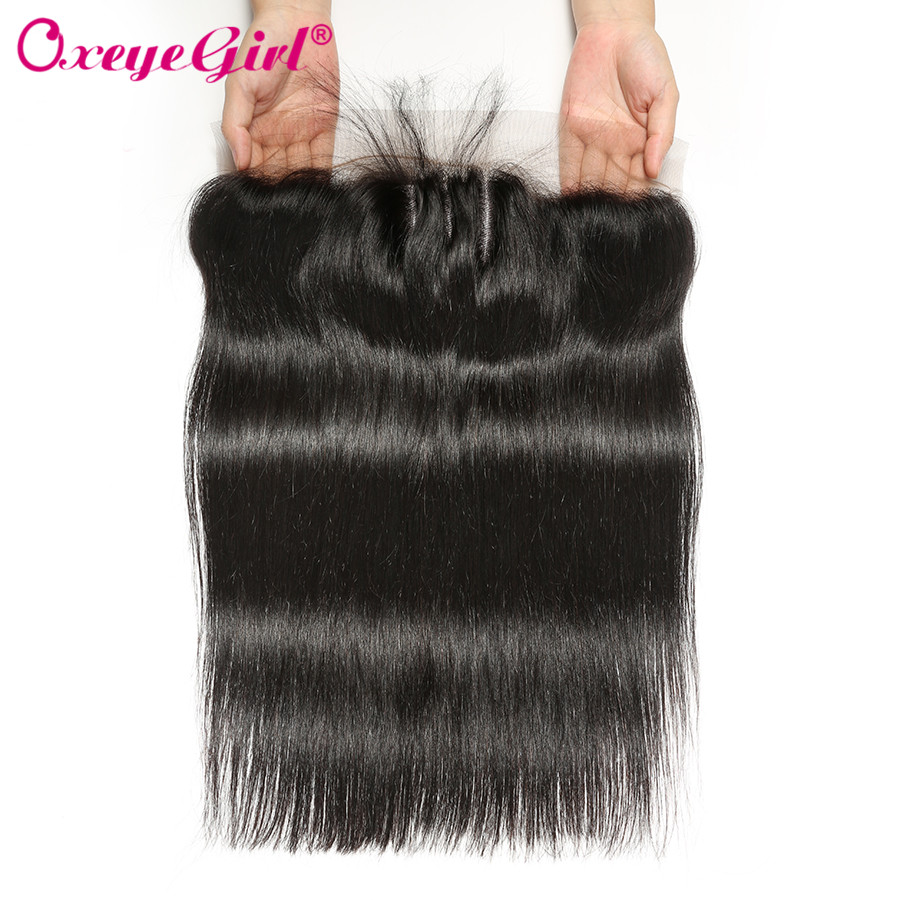 H5a61a784a7f541279095434fa570ee1cO Straight Hair Bundles With Frontal Peruvian Hair Lace Frontal With Bundles 3 Human Hair Bundles With Closure Oxeye girl Non Remy
