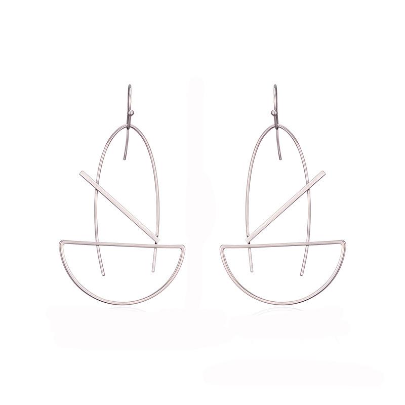 NJ Fashion Long Slope Geometric Earrings New Earring For women Gift Party Wedding Jewelry Pendant Earrings