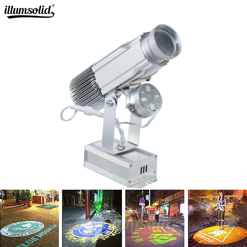 Le projecteur de publicité d'affichage adapté aux besoins du client par logo a mené l'image de centre commercial de magasin de lampe de gobo 25w