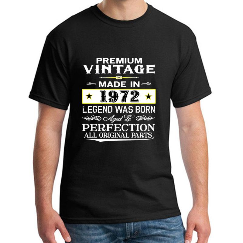 Printed Premium Vintage 1972 T-shirt For Men And Women Cotton Casual Hilarious Homme Tshirts Classical Outfit
