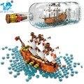 2020 идеи корабельная Лодка в бутылке 1080 шт Playmobil совместимые строительные блоки lepining игрушки для детей идеи корабельных бутылок 21313