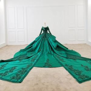 Image 4 - HTL1165 女性イブニングドレス o ネックアップリケスパンコールパターンの房の高級長袖新イブニングドレス vestidos デ · フェスタロンゴ