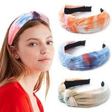 Rainbow colors Knotted Velvet Headband Flannel Fashion Headb