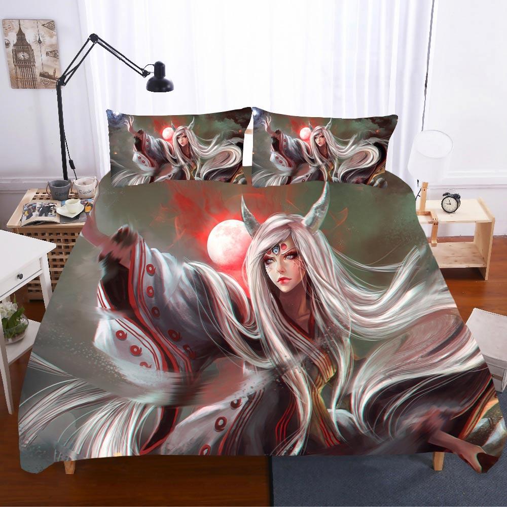 Home Textiles Bed Linen NARUTO Ropa De Cama Luxury Gift Twin Sabanas 3d King Size Bedding Set Bed Linen Euro Bed Linen Poplin