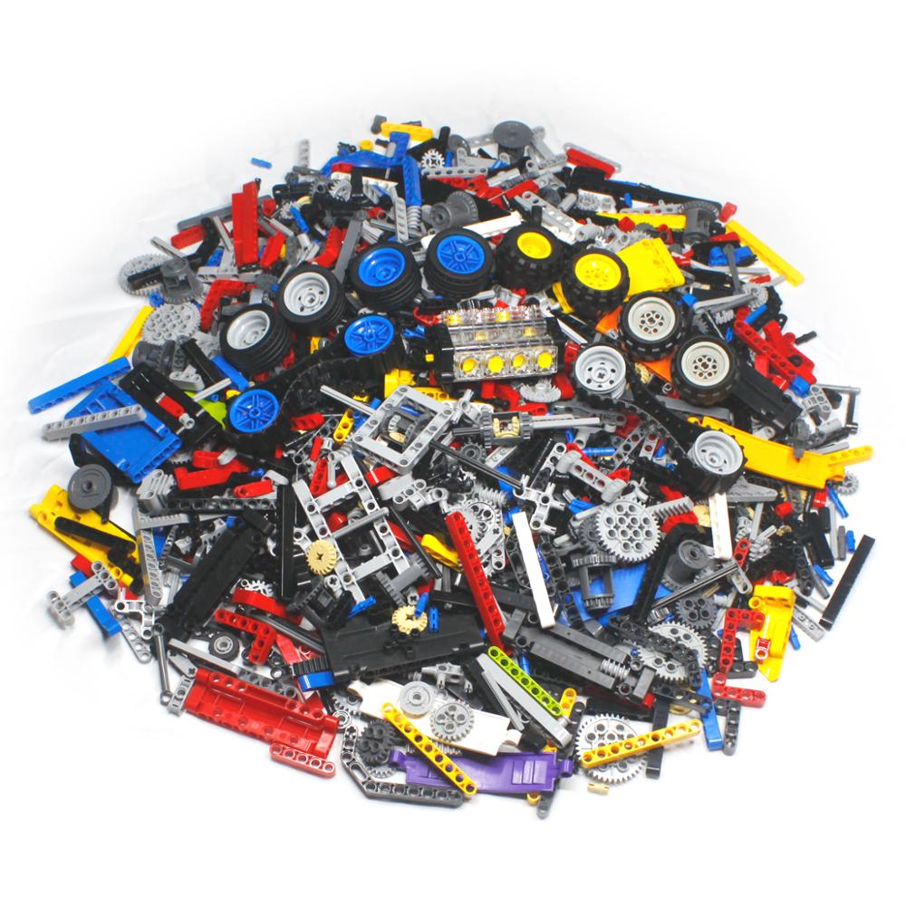 500g Bulk Technic Parts To Create Personal MOC Include Different Spare Pieces Toys Compatible Blocks Boys Birthday Gift