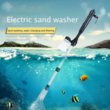 Automatic Fish Tank Water Change Pump Electric Aquarium Siphon Suction Pipe Filter Pump Washer Gravel Cleaning Tools Accessories