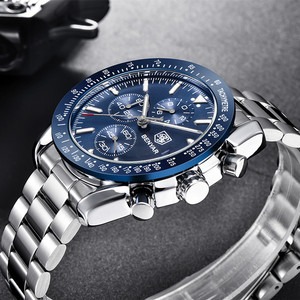 Image 3 - BENYAR 2019 メンズ腕時計トップの高級ブランドビジネススチールクォーツ時計カジュアル防水男性腕時計レロジオ Masculino