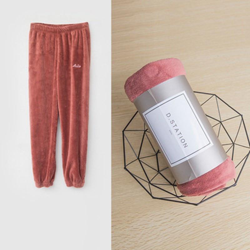 COOTELILI Teenager Girl Boy Winter Pants Fleece Thicken Warm Trousers Kids Boys Girls Home Pants Children Clothes Fashion (5)