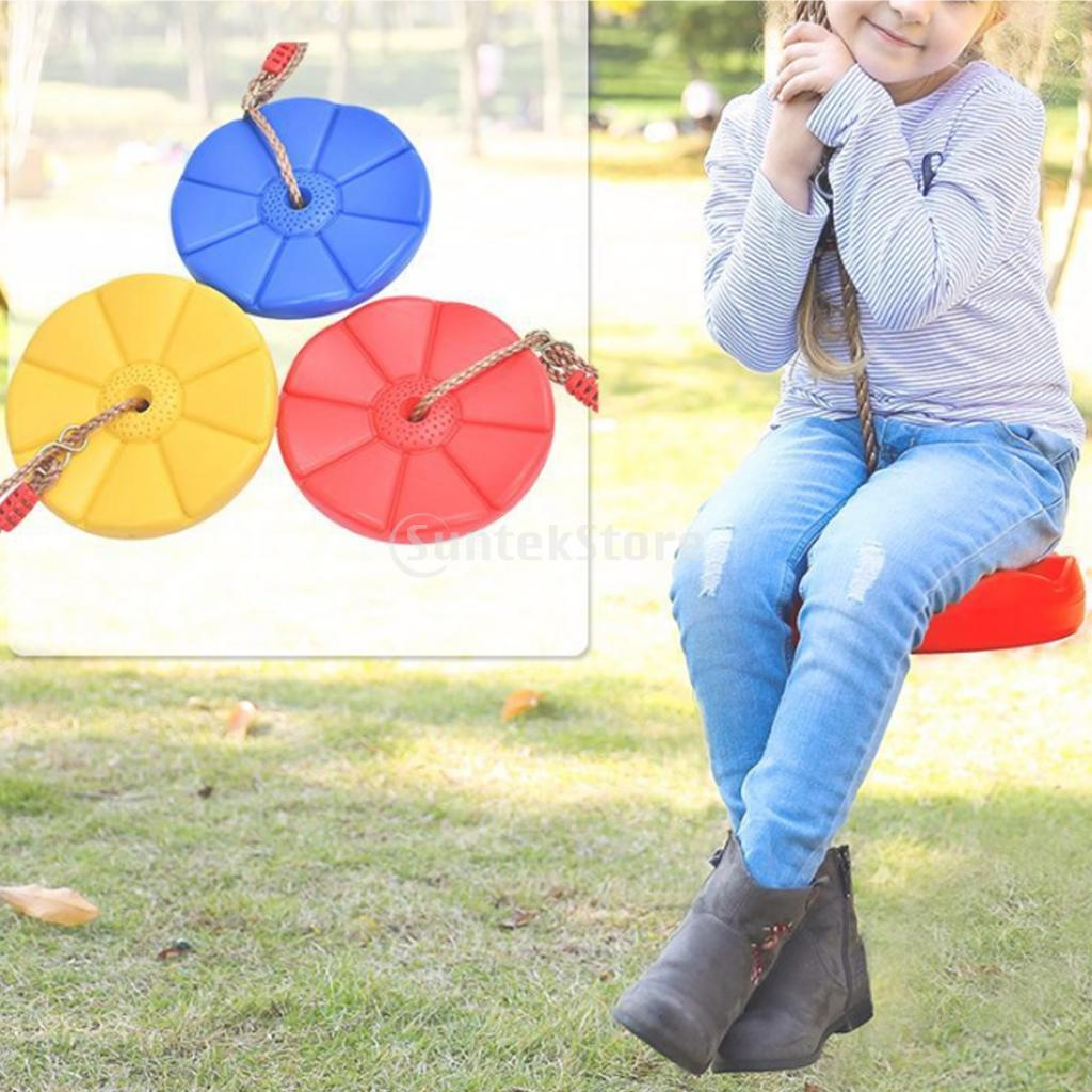 Disk Seat Swing Monkey Rope Tree Swing, Safe Indoor Outdoor Plastic Disc Monkey Kids Swing Seat Playground Fitness Game Toy