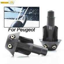 2 sztuk/zestaw przednia wycieraczka wycieraczki podkładka dysza rozpylająca Spray do Peugeot 106 205 206 306 506 kaptur wody dysze