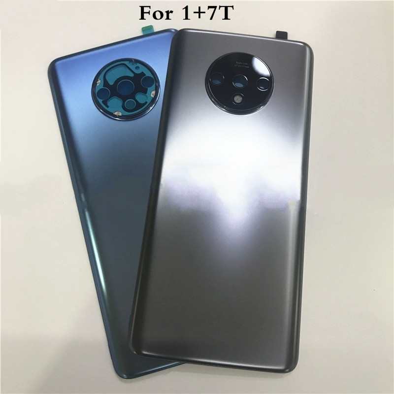 Original 3D Glass For Oneplus 7T Battery Cover Rear Door With Camera Lens Glass Replacement Part Back Cover
