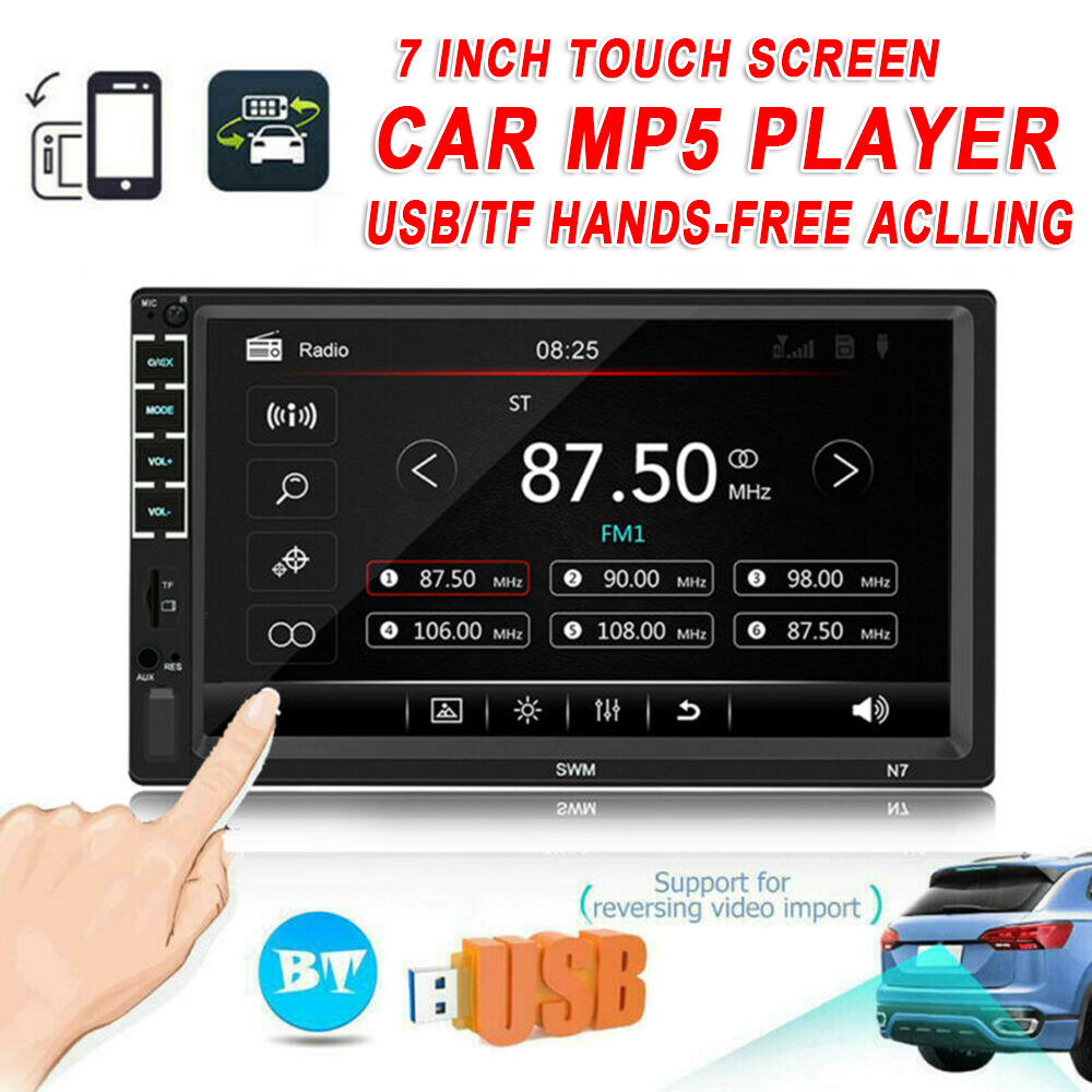 7 Inch Car 2 DIN Multimedia MP5 Player 12V Radio GPS Bluetooth Audio Stereo Auto Dual DIN Intelligent System Player Mirror Link