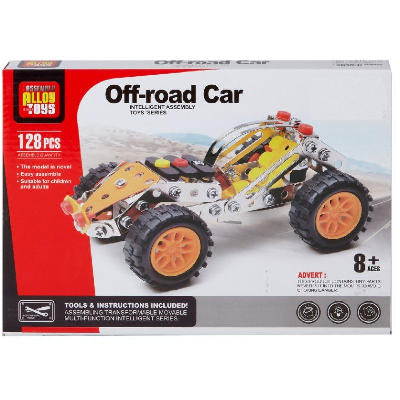 Meccano Metal Car With 128 PCs