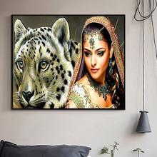 3D Diamond Painting Beauty and Tiger Cross Stitch Diamond Embroidery Home Decor