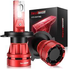 Torchbeam h4 lâmpada led 400% brilho 6500k branco fresco 9003 lâmpadas de farol led alto/baixo feixe plug-and-play lâmpadas de substituição