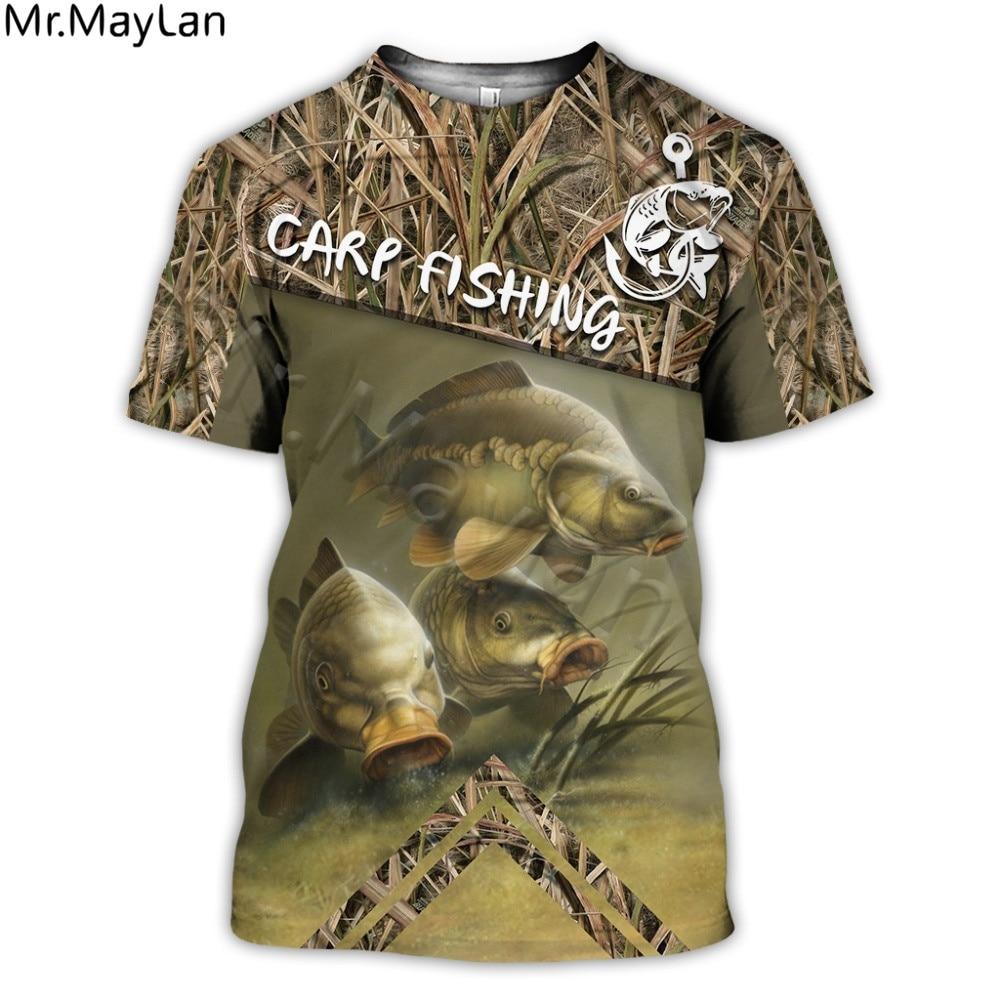 Beautiful Carp Fishing 3D All Over Print Men T Shirt Harajuku Fashion Short Sleeve Tee Shirt Summer Streetwear Unisex Tshirt
