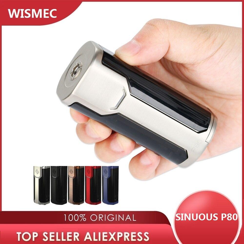 Original 80W WISMEC SINUOSO P80 TC Max MOD 80W Caixa Mod 510 Fio E-cigarro Mod Poder por 18650 Bateria Vape Mod vs Armadura Pro