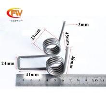 FINEWE – ressort à Double torsion 3mm, en acier, 4 bobines, ressort robuste