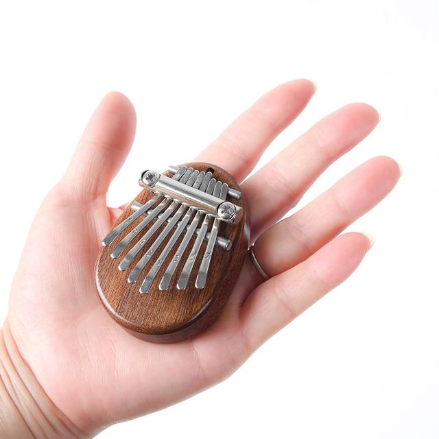 8 Key Kalimba Mini Portable Thumb Piano Finger Percussion Keyboard Pocket Musical Instrument Christmas Present Toy