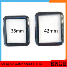 Outer Glass Panel Lens For Apple Watch Series 1 2 3 4 5 38mm 40mm 42mm 44mm LCD Touch Screen Cracked