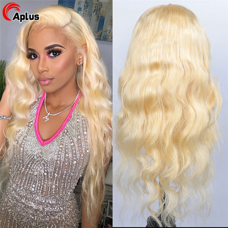 613 Blonde Lace Front Wig 13x4 Transparent Lace Wigs With Dark Roots Natural Human Hair Wigs For Black Women Peruvian Lace Wigs