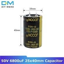 С алюминиевой крышкой, 50В 6800 мкФ 25x40 мм 25X40 Алюминий электролитический конденсатор с алюминиевой крышкой, высокая частота низкое сопротивление со сквозным отверстием конденсатор с алюминиевой крышкой, размер 25*40 мм