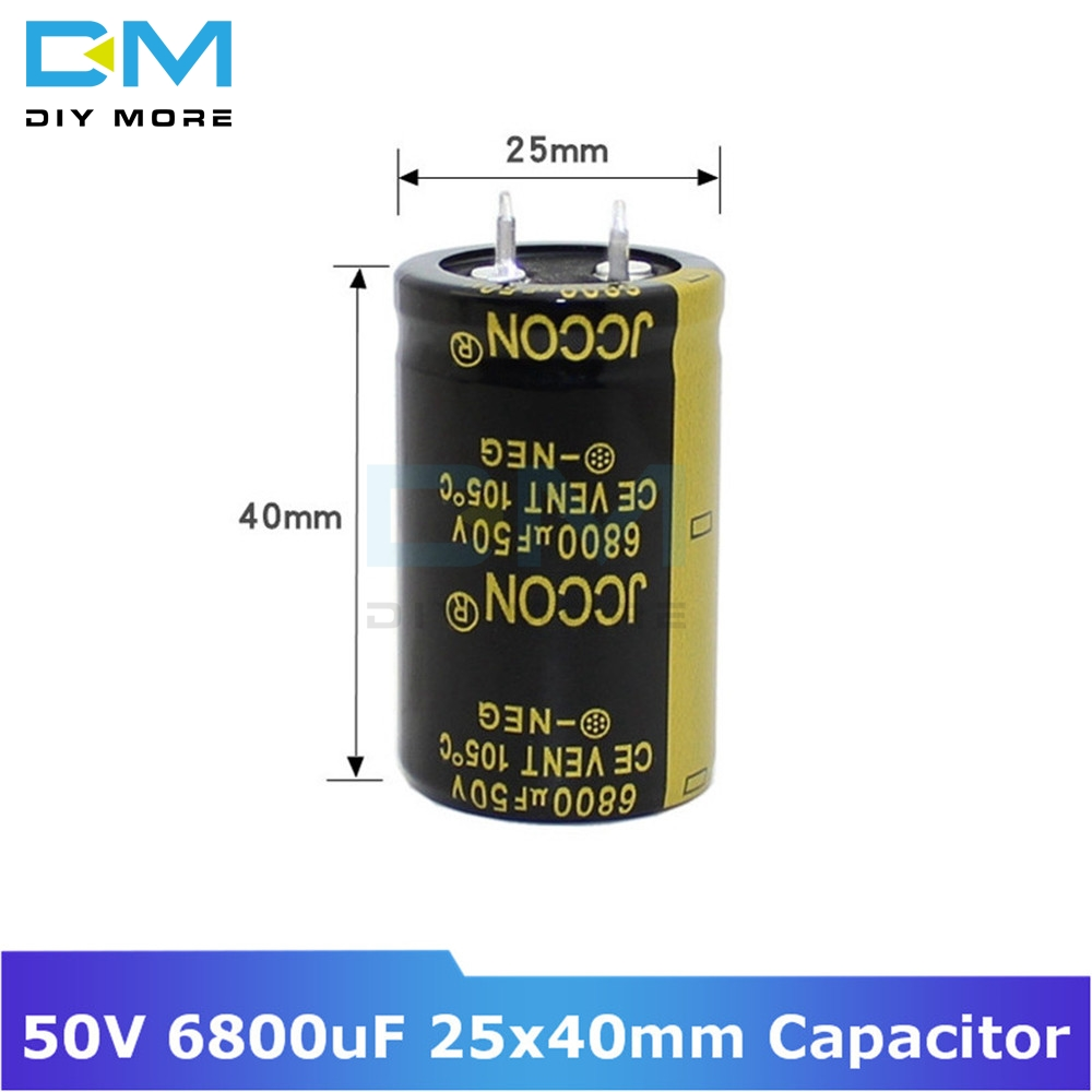 50V 6800uF 25x40mm 25X40 Aluminum Electrolytic Capacitor High Frequency Low Impedance Through Hole Capacitor Size 25*40mm