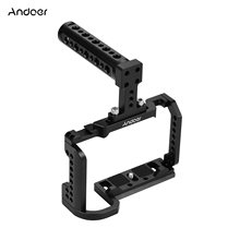 Andoer Video Kamera Cage + Top Griff Kit Aluminium Legierung mit Kalten Schuh Montieren 1/4 Zoll Schraube Löcher Kompatibel mit nikon Z6/Z7
