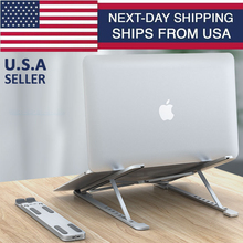 New Aluminum Alloy Adjustable Foldable Laptop Stand Non-slip Desktop Notebook Holder Laptop Stand For Macbook Pro Air iPad Pro