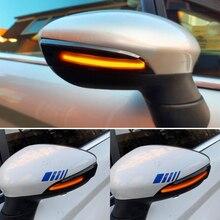Dinámica de luz LED de intermitente de flujo lateral espejo retrovisor intermitente indicador para Ford Fiesta Mk7 2008 2017 para Ford B Max