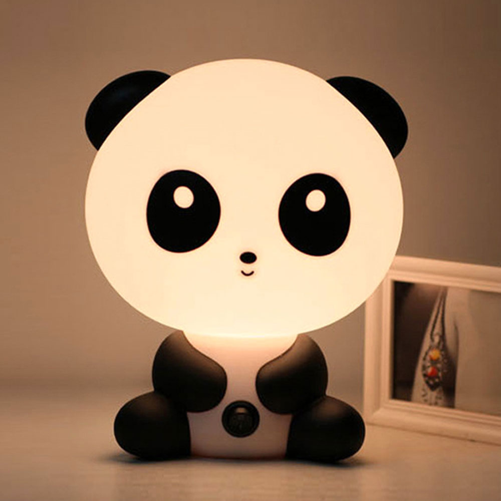 Reading Table Lamps Cute Children's LED Night Lights Unique Cartoon Panda Shape Bedroom Lamps Night Light  5*20*18CM EU/US Plug
