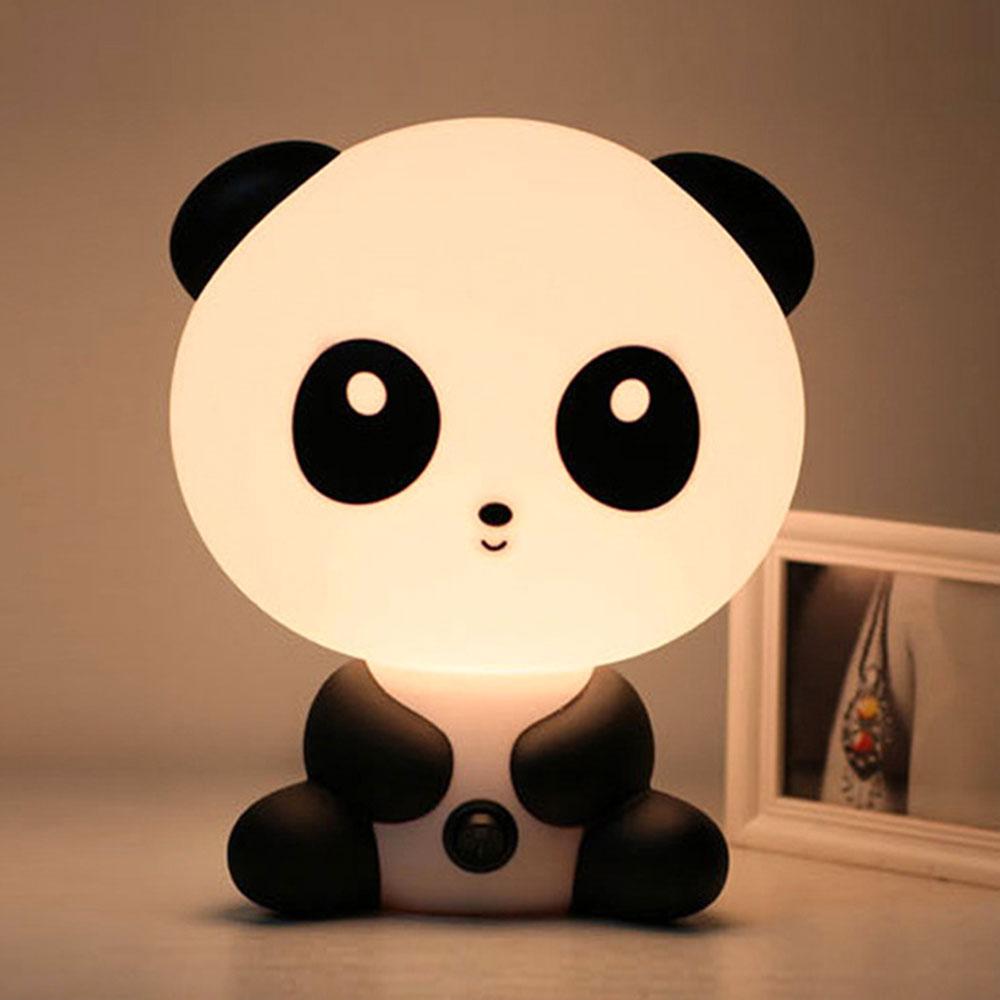 Reading Table Lamps Cute Children's LED Night Lights Unique Cartoon Panda Shape Bedroom Lamps Night Light  5*20*18CM EU/US Plug