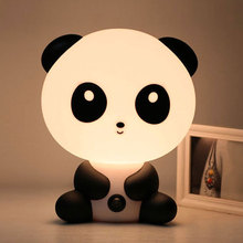 Reading Table Lamps Cute Children's LED Night Lights Unique Cartoon Panda Shape Bedroom Lamps Night Light  5*20*18CM EU/US Plug mini cartoon led night lights lamps cute pat fish cat light table lampe colorful led night lamp gift