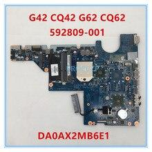 Hoge kwaliteit voor G42 G62 CQ42 CQ62 Laptop Moederbord 592809-001 592809-501 DA0AX2MB6E1 REV: E DDR3 100% goed werkt