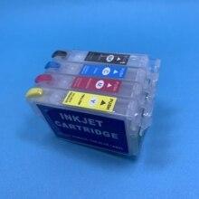 YOTAT перезаправляемый картридж T1291 T1292 T1293 T1294 для Epson Stylus SX230 SX235W SX420W SX425W SX430W SX435W SX438W SX440W