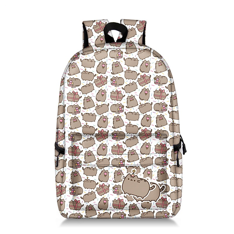 Fashion Pusheen Backpack Cute Cat Printing BackPack For Teenager Girls School Students Laptop Mochila Escolar Travel Bag Bookbag