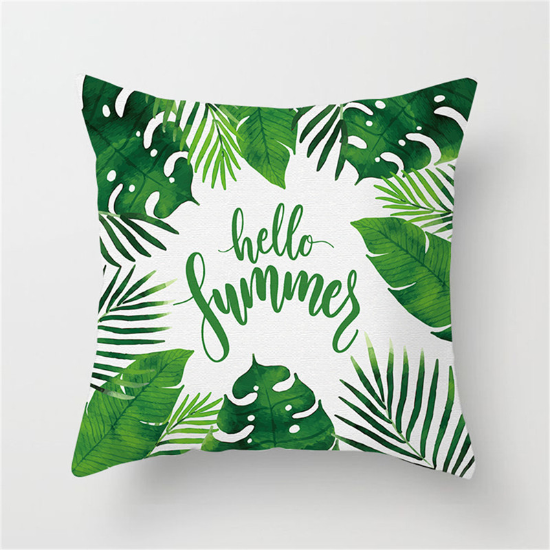 Fuwatacchi Flamingo Flower Pineapple Pillow Cover Rainforest Printing Cushion Cover Home Decor Pillows Case For Chair Car 2019