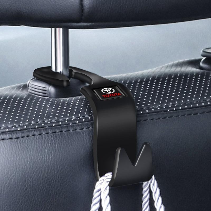Автомобильный крючок на спинку сиденья автомобильные аксессуары интерьера переносная вешалка держатель для хранения для Toyota c hr Prado rav4 Yaris hilux prius avensis Дискодержатель      АлиЭкспресс
