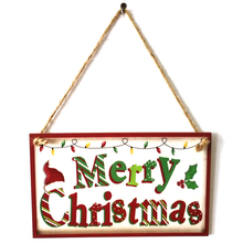 Merry Christmas New Wooden Wall Door Sign Banner Decoration Hanging Plate Board