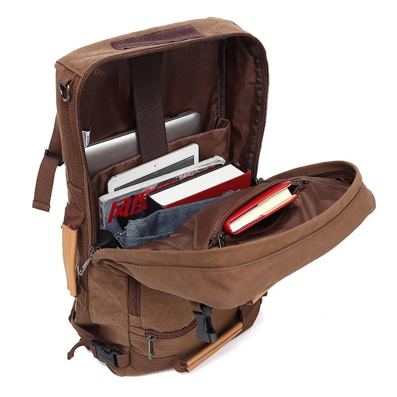 MAGIC UNION Mens Backpack 20/22 inch Big Travel Backpack Canvas Bag Sling Backpack Hiking Camping Backpacks for Men 2