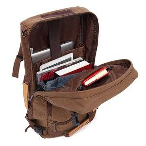 Image 3 - Magic union masculino mochila 20/22 polegada grande viagem mochila lona saco sling mochila caminhadas mochilas de acampamento para homens