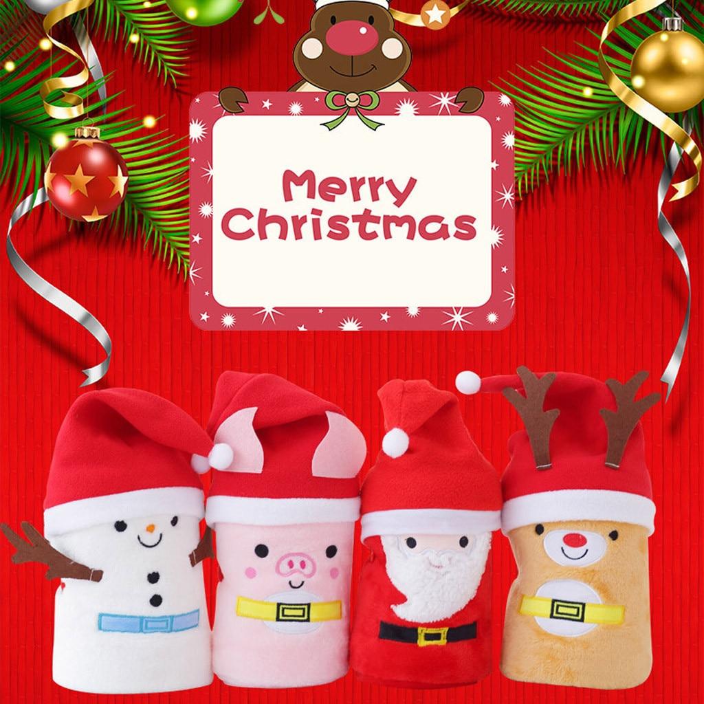Christmas Gift Cartoon Flannel Blanket 1
