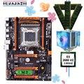 Фирменная распродажа материнских плат HUANANZHI deluxe X79 материнская плата с M.2 CPU Xeon E5 2680 V2 с охладителем RAM 64G (4*16G) 1600 REG ECC