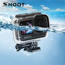 Ateş GoPro Hero 9 siyah su geçirmez kılıf 60M sualtı dalış koruyucu kabuk kapak dağı git Pro 9 aksesuarları