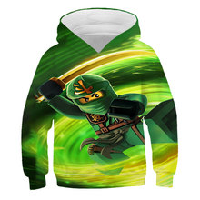 Spring And Autumn Children's Hoodie]Boys' Girls' Sweatshirt 2021 New Super Large LEGO Top-Level Fun Game Fake Cool Baseball